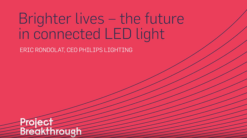 Eric Rondolat, CEO van Philips Lighting