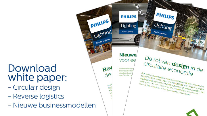 Circular Lighting whitepapers - circular design, reverse logistics, nieuwe businessmodellen
